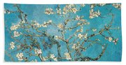 Almond Branches In Bloom Beach Sheet