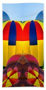 Almost Inflated Hot Air Balloons Mirror Image Beach Towel