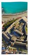 Almunecar Castle From The Air Beach Towel