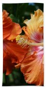 Aloha Keanae Tropical Hibiscus Beach Towel
