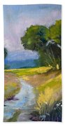 Along A Country Road Beach Towel