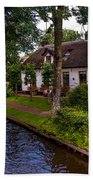 Along The Canal. Giethoorn. Netherland Beach Towel
