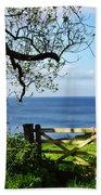 Along The Coastal Path - Lyme Regis Beach Towel