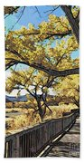 Along The Path Beach Towel