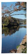 Along The River In Shelbourne Falls Beach Towel