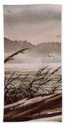 Along The Wild Shore Beach Towel