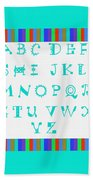 Alphabet Blue Beach Towel