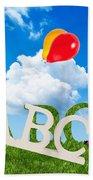 Alphabet Letters Beach Towel by Amanda Elwell