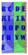 Alphabet With Apples Beach Towel