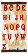 Alphabet With Scroll 2 Beach Towel
