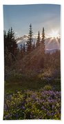 Alpine Meadow Sunrays Beach Towel