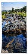 Alpine Stream Beartooth Mounain Range Beach Towel by Edward Fielding