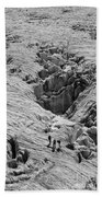 Alpinists On Glacier Beach Towel
