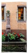 Alsace Fountain Beach Towel