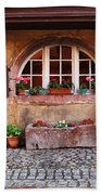 Alsatian Home In Kaysersberg France Beach Towel by Greg Matchick