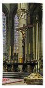 Altar Of Rouen Cathedral Beach Towel