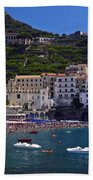 Amalfi Beach And Town Beach Towel