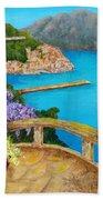 Amalfi Coast Beach Towel