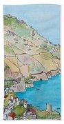 Amalfi Coast Praiano Italy Beach Towel