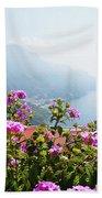 Amalfi Coast View From Ravello Italy  Beach Towel