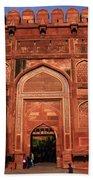Amar Singh Gate Red Fort Agra  Beach Towel