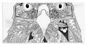 Amarican Eagle Black White Beach Towel