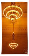 Amazing Antique Chandelier - Grand Central Station New York Beach Towel