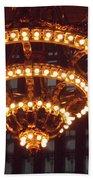 Amazing Art Nouveau Antique Chandelier - Grand Central Station New York Beach Towel