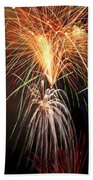 Amazing Fireworks Beach Towel