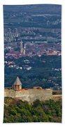 Amazing Medvedgrad Castle And Croatian Capital Zagreb Beach Towel