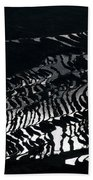 Amazing Rice Terrace In Black And White Beach Towel