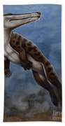 Ambulocetus Natans, An Early Cetacean Beach Towel