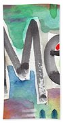 Amen- Colorful Word Art Painting Beach Towel