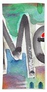 Amen- Colorful Word Art Painting Beach Sheet