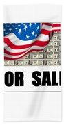 America For Sale Beach Towel