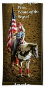 America -- Rodeo-style Beach Towel