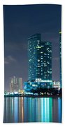 American Airlines Arena And Condominiums Beach Towel