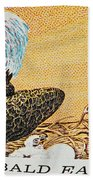 American Bald Eagle Vintage Postage Stamp Print Beach Towel