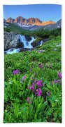 American  Basin Waterfall Beach Towel