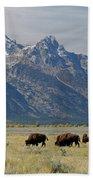 American Bison Herd Beach Towel