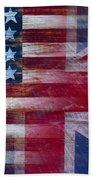 American British Flag Beach Towel by Garry Gay