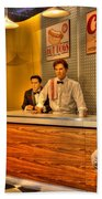 American Cinema Icons - 5 And Diner Beach Towel