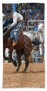 American Cowboy Riding Bucking Rodeo Bronc II Beach Towel