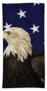 American Eagle And Flag Beach Towel