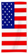 American Flag . Square Beach Towel