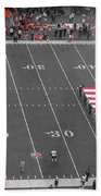 American Flag At Paul Brown Stadium Beach Towel by Dan Sproul