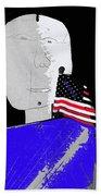 American Flag Collage Tucson Arizona Mid 1980's-2013 Beach Towel