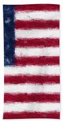 American Flag Embossed Beach Towel