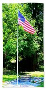 American Flag - Honoring John Beach Towel by Tap On Photo