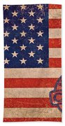 American Flag Made In China Beach Towel